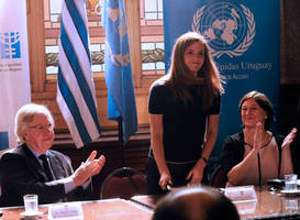 Emma Watson 'touched' by welcome as she heads to Uruguay in her first trip as UN Women Goodwill Ambassador - PICS